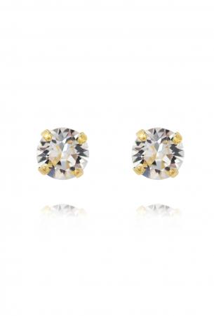Cercei cu cristal Swarovski dublu-placati cu aur Caroline S. [0]