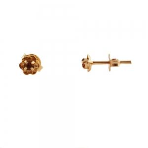 Cercei mici placati cu aur Rock & Shine1