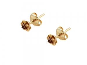 Cercei mici placati cu aur Rock & Shine0
