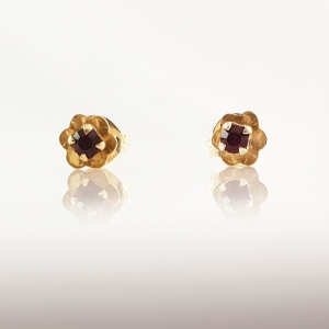 Cercei mici placati cu aur Rock & Shine2