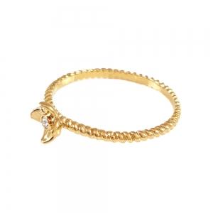 Inel de logodna placat cu aur Rock & Shine0