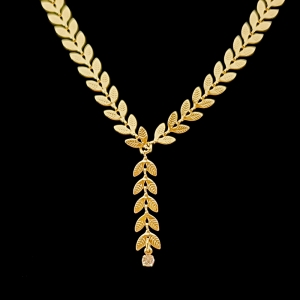 Colier placat cu aur Lucia1
