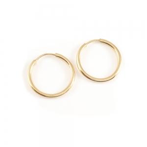 Cercei mici rotunzi placati cu aur1