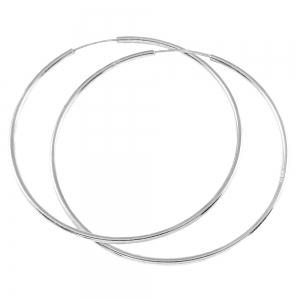 Cercei 5 cm Silver din argint rodiat0