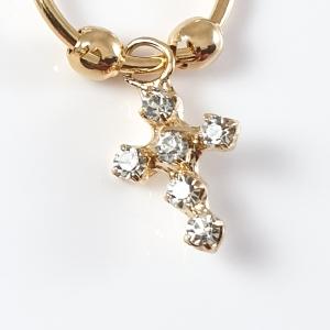 Cercei placati cu aur M-Cross3