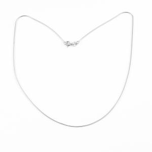 Lantisor 40-50 cm din argint rodiat Bounce0