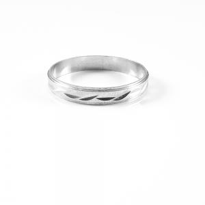 Inel tip verigheta din argint Sphere0
