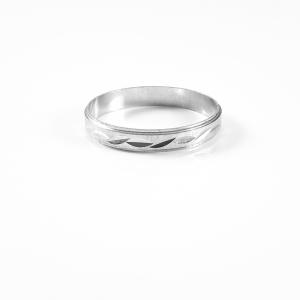 Inel tip verigheta din argint Sphere1