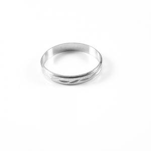 Inel tip verigheta din argint Sphere2