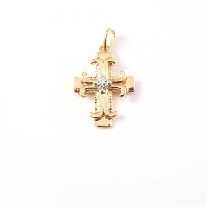 Cruciulita placata cu aur Cycle0