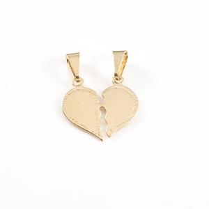 Pandantiv personalizabil placat cu aur Hearts0
