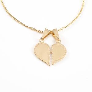 Pandantiv personalizabil placat cu aur Hearts1