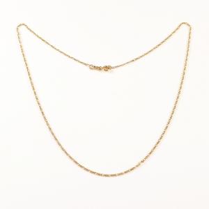 Lantisor placat cu aur 50 cm Aqua0