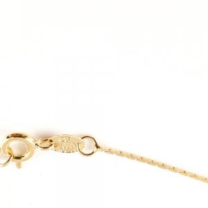 Lantisor placat cu aur tip sarpe 42-46 cm Graded1