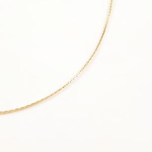 Lantisor placat cu aur tip sarpe 42-46 cm Graded2