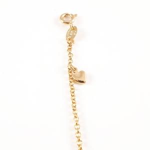 Bratara pentru picior placata cu aur Bokka2