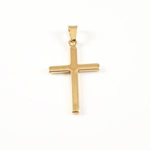 Cruciulita placata cu aur Bible1