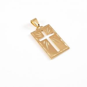 Cruciulita placata cu aur Saint0