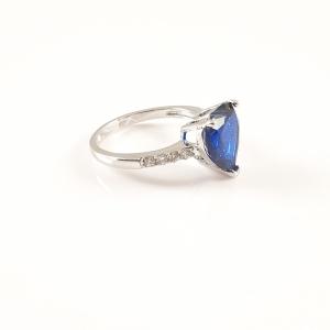 Inel placat cu aur alb BlueSea1
