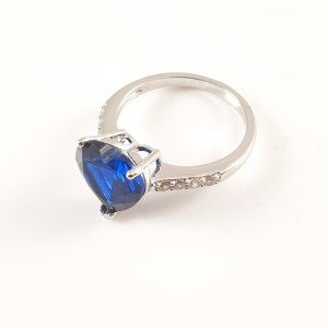 Inel placat cu aur alb BlueSea3