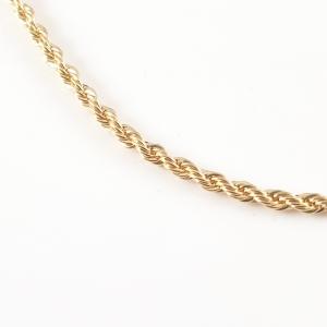 Lant barbatesc placat cu aur 45 cm El Bar1
