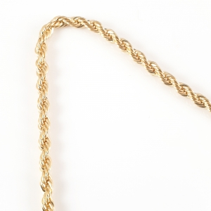 Lant barbatesc placat cu aur 45 cm El Bar2