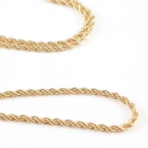 Lant barbatesc placat cu aur 45 cm El Bar5