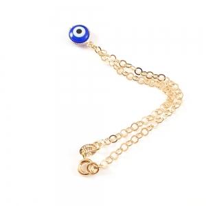 Bratara placata cu aur Blue Egeea5