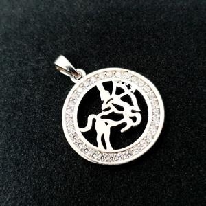 Pandantiv din argint rodiat Zodia Sagetator [0]