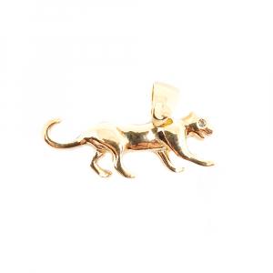 Talisman pentru barbati placat cu aur Jaguar0