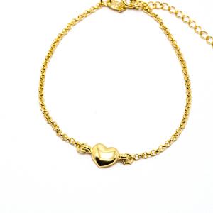 Bratara cu inimioara placata cu aur Island 18-23 cm3