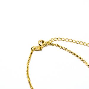 Bratara cu inimioara placata cu aur Island 18-23 cm2