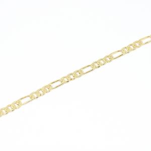 Bratara lata pentru barbati placata cu aur 21 cm Basic Instinct0