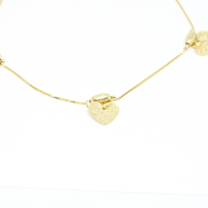 Bratara pentru glezna placata cu aur 25-30 cm Techno1
