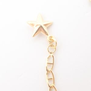 Bratara 25 cm pentru picior placata cu aur Sefra4