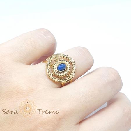 Inel cu piatra naturala Lapis Lazuli [5]
