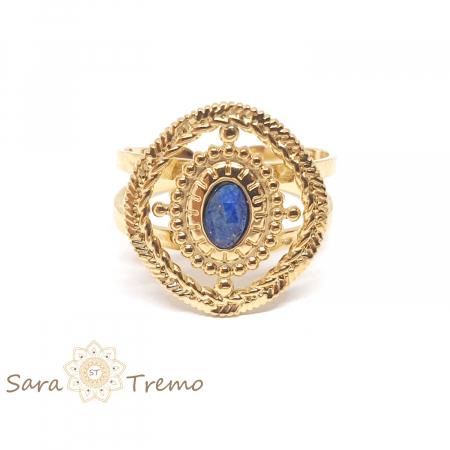 Inel cu piatra naturala Lapis Lazuli [4]