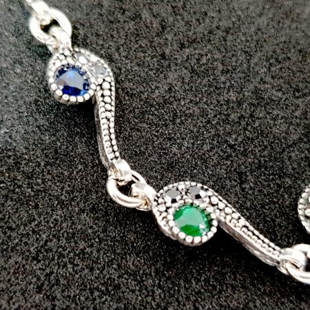 Bratara luxury din argint Maldive3
