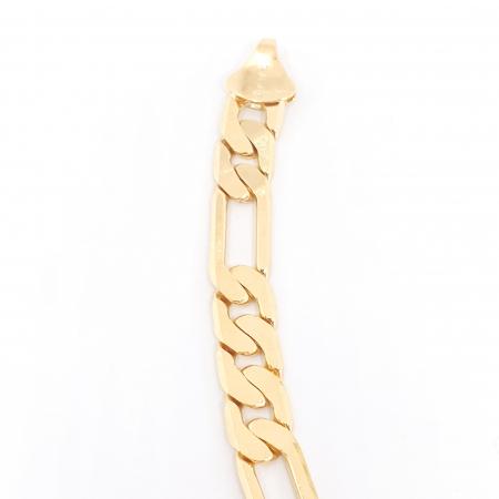 Bratara lata pentru barbati placata cu aur 22 cm Kester Mehr1