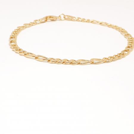Bratara barbateasca placata cu aur 22 cm Roberto2