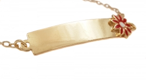 Bratara pentru copii placata cu aur Kid Luxury0