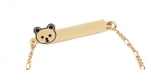 Bratara pentru copii placata cu aur 18 K Kid Luxury0