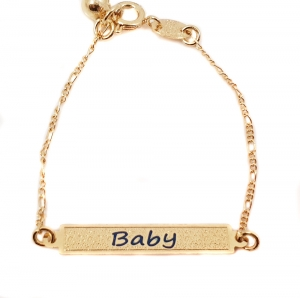 Bratara pentru copii placata cu aur 18 K Kid Luxury1