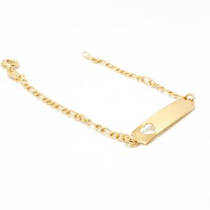 Bratara 15 cm pentru copii placata cu aur Sunny1