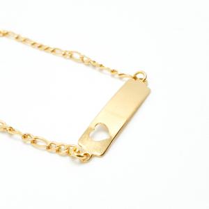 Bratara 15 cm pentru copii placata cu aur Sunny0