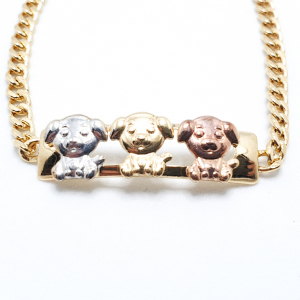 Bratara pentru copii placata cu aur Bears1