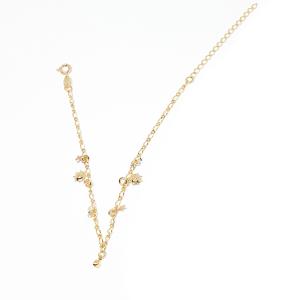 Bratara pentru glezna placata cu aur 18-23 cm Cupio0