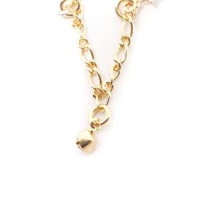 Bratara pentru glezna placata cu aur 18-23 cm Cupio4