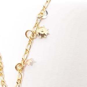 Bratara pentru glezna placata cu aur 18-23 cm Cupio2