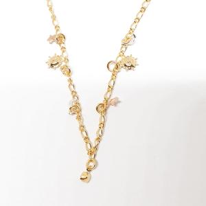 Bratara pentru glezna placata cu aur 18-23 cm Cupio1